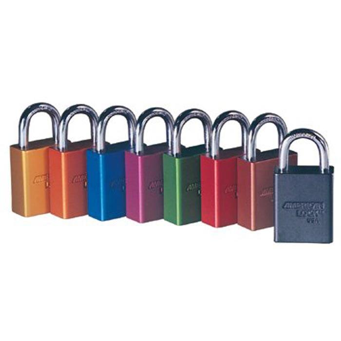 Solid Aluminum Padlocks 5 Pin Orange Safety Lock-Out Padlock Key