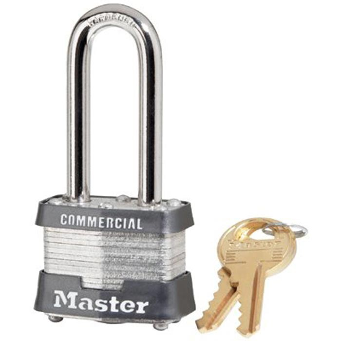 No. 3 Laminated Steel Pin Tumbler Padlocks 4 Pin Tumbler Safety Padlock Keyed Diff. 1-9/16""