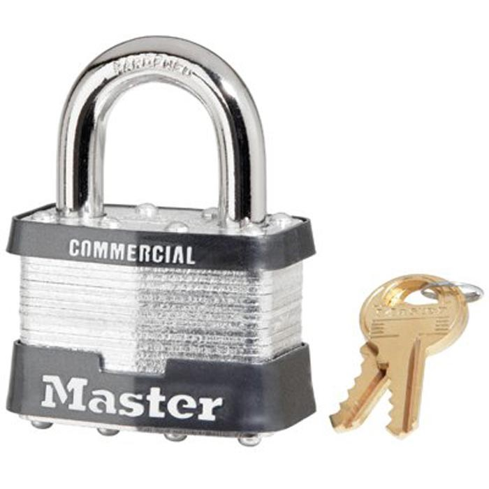 No. 5 Laminated Steel Pin Tumbler Padlocks Master Kd Only-Blister P