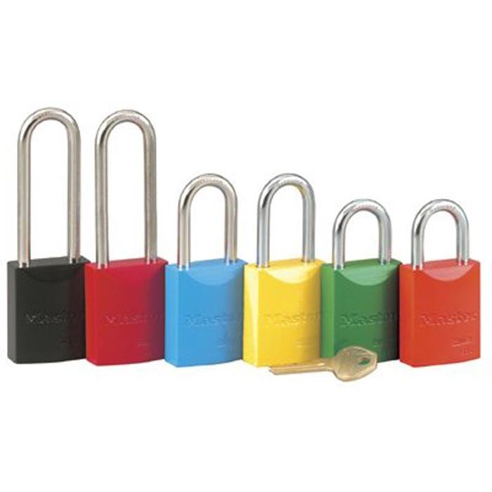 Pro Series High Visibility Aluminum Padlocks 5 Pin Red Safety Lockoutpadlock Keyed Diffe