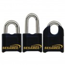 "Super Sesamee Padlock 2""Shackle 7/16"" Dia Black"