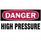 """Gas Cylinder Lockout Labels 3""""X5"""" Danger High Pressure Gas Cylinder Label"""