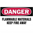 "Gas Cylinder Lockout Labels 3""X5"" Danger Flammable Material Gas Cylinder Lab"