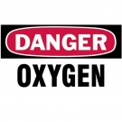 """Gas Cylinder Lockout Labels 3""""X5"""" Danger Oxygen Gascylinder Label"""