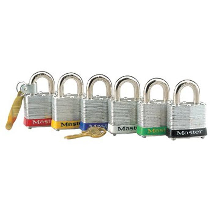 "Steel Body Safety Padlocks Laminated Steel Safety Lockout Padlock 1-1/2"" Sh"
