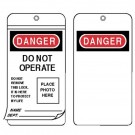 Self Laminating I.D. Photo Tag Lockouts I.D. Photo Lockout Tagslaminated Grommetted Tag