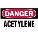 """Gas Cylinder Lockout Labels 3""""X5"""" Danger Acetylene Gas Cylinder Label"""