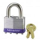 No. 1 Laminated Steel Pin Tumbler Padlocks Master Blister Pk-Kd